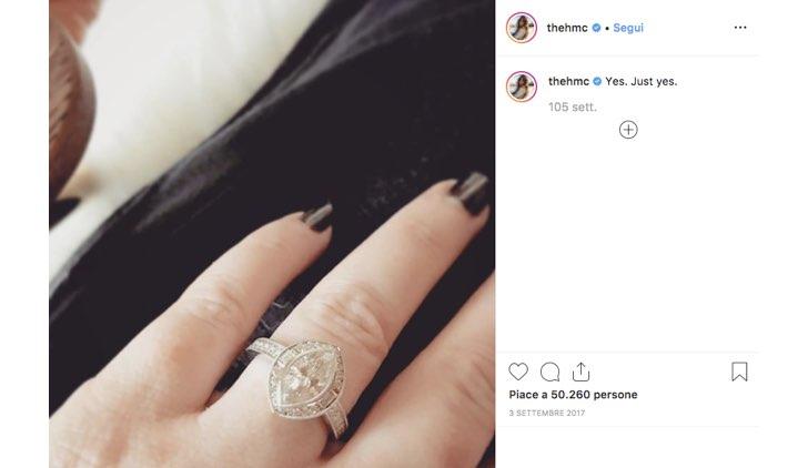 Holly Marie Combs anello fidanzamento Instagram