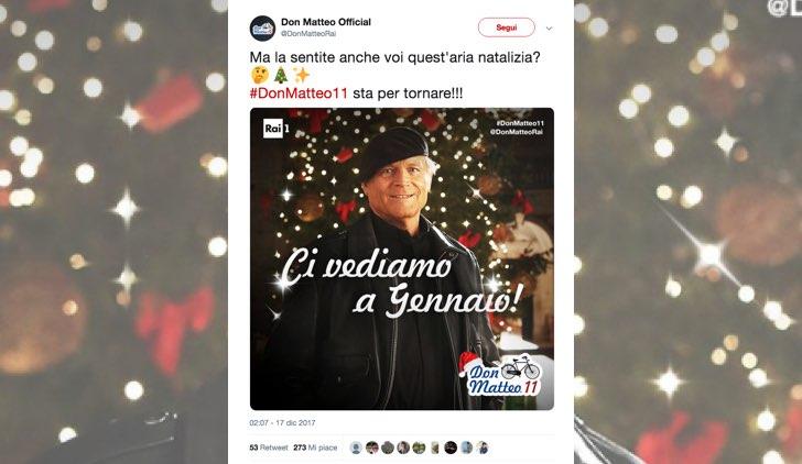 Don Matteo 11 in tv da gennaio 2018 Tweet dall'account ufficiale DonMatteoRai