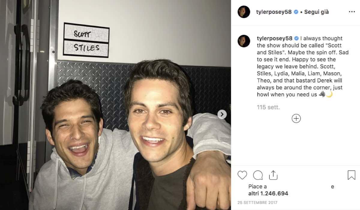 Tyler Posey Dylan O'Brien Instagram