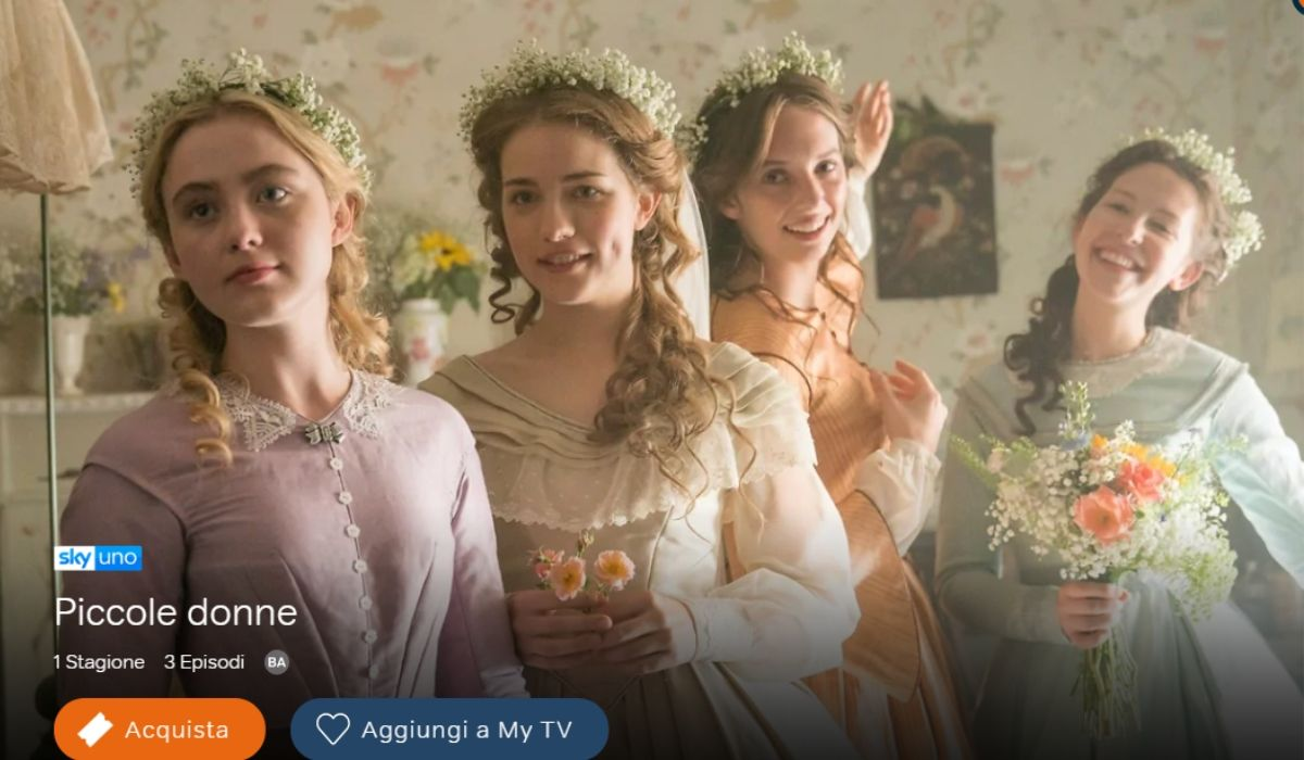 Piccole Donne è in streaming su NOW TV, Credits Sky