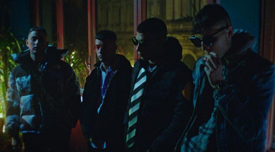Tony, Wayne, Pyrex e Side nella serie tv Dark Polo Gang, Credits Timvision