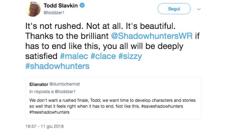 Twitter Todd Slavkin Shadowhunters