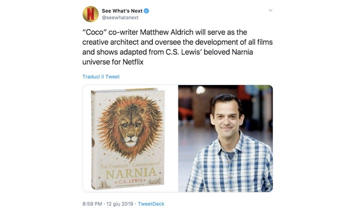 Twitter cronache di Narnia