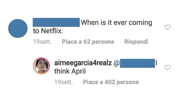 Aimee Garcia Instagram Lucifer risposta a fan