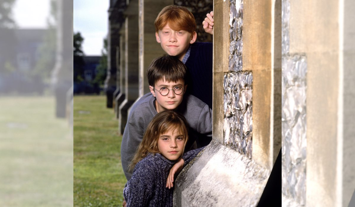 Harry Potter e la Pietra Filosofale - Harry, Ron e Hermione Credits The WB
