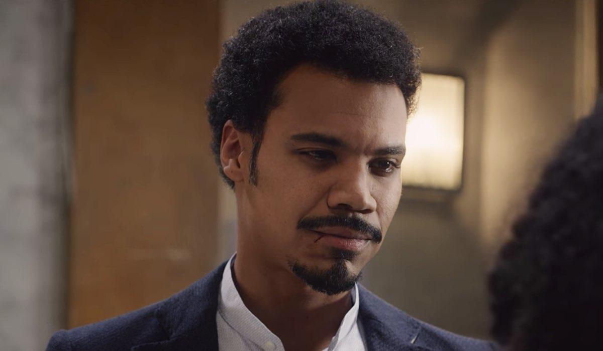 Nero a metà Malik interpretato da Miguel Gobbo Diaz nell episodio L apparenza inganna parte 2 Credits RAI e Netflix