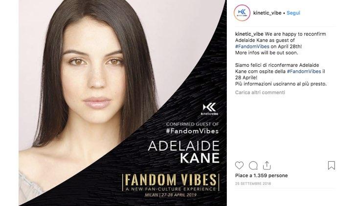 Fandom Vibes 2019 Adelaide Kane