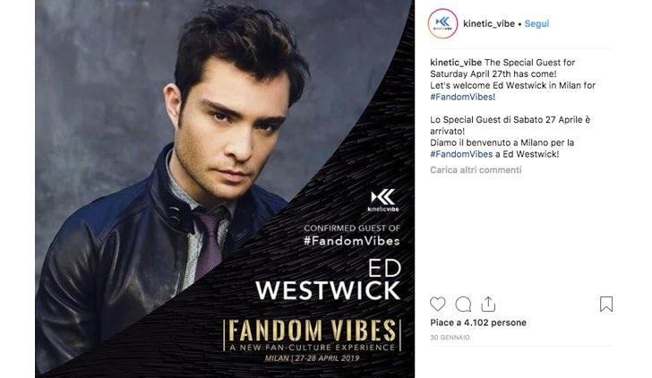 Fandom Vibes 2019 Ed Westwick
