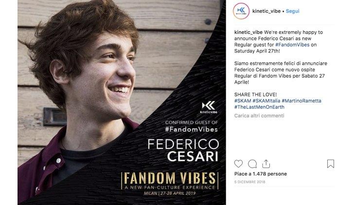 Fandom Vibes 2019 Federico Cesari