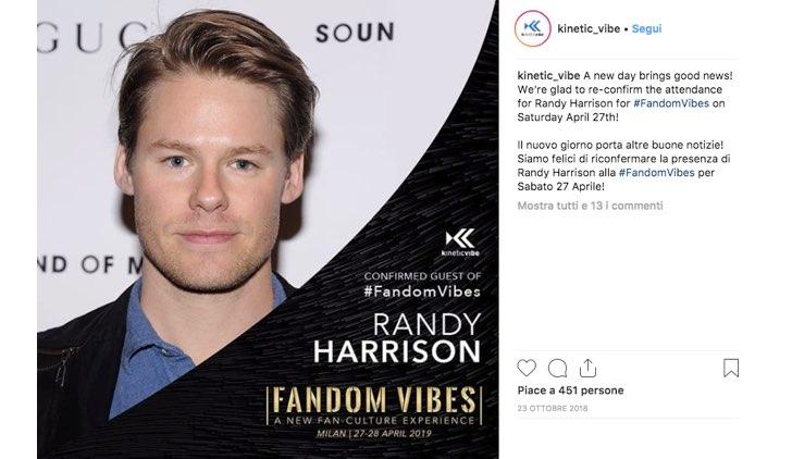 Fandom Vibes 2019 Randy Harrison