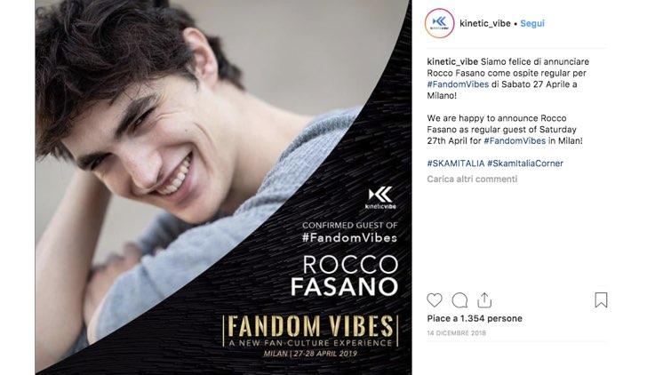 Fandom Vibes 2019 Rocco Fasano
