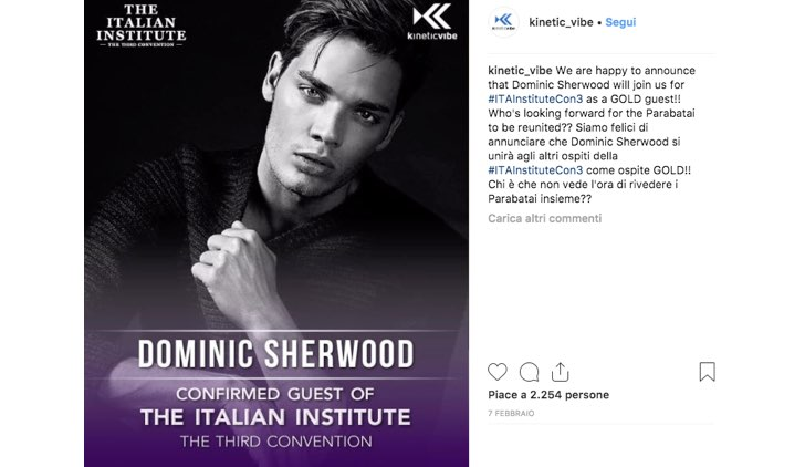 Italian Institute 2019 Dominic Sherwood