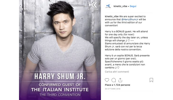Italian Institute 2019 Harry Shum Jr