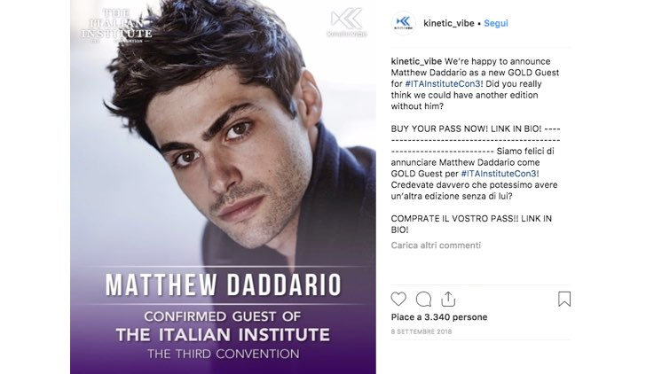 Italian Institute 2019 Matthew Daddario
