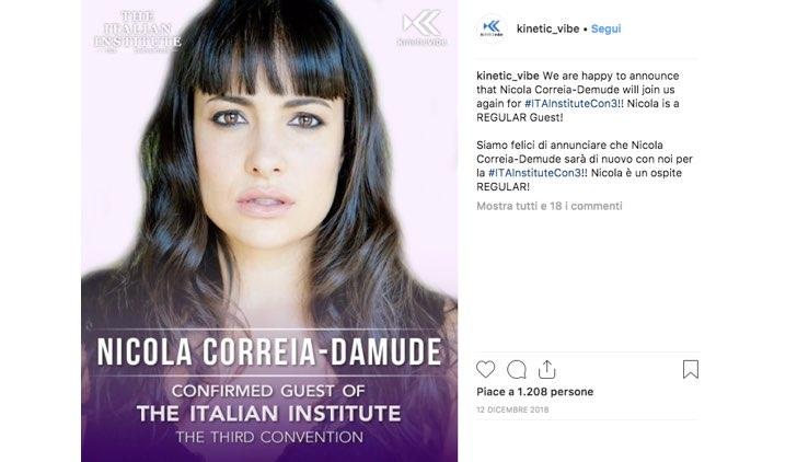 Italian Institute 2019 Nicola Correia