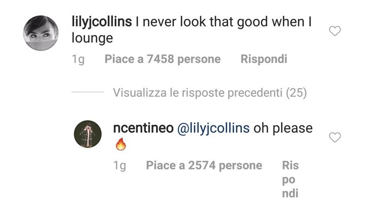 Noah Centineo Lily Collins Instagram