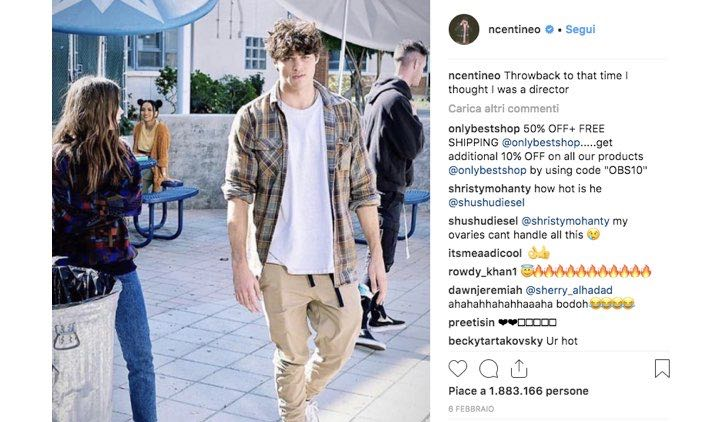 Noah Centineo Lily Collins post Instagram