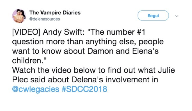 Twitter figli Delena Andy Swift