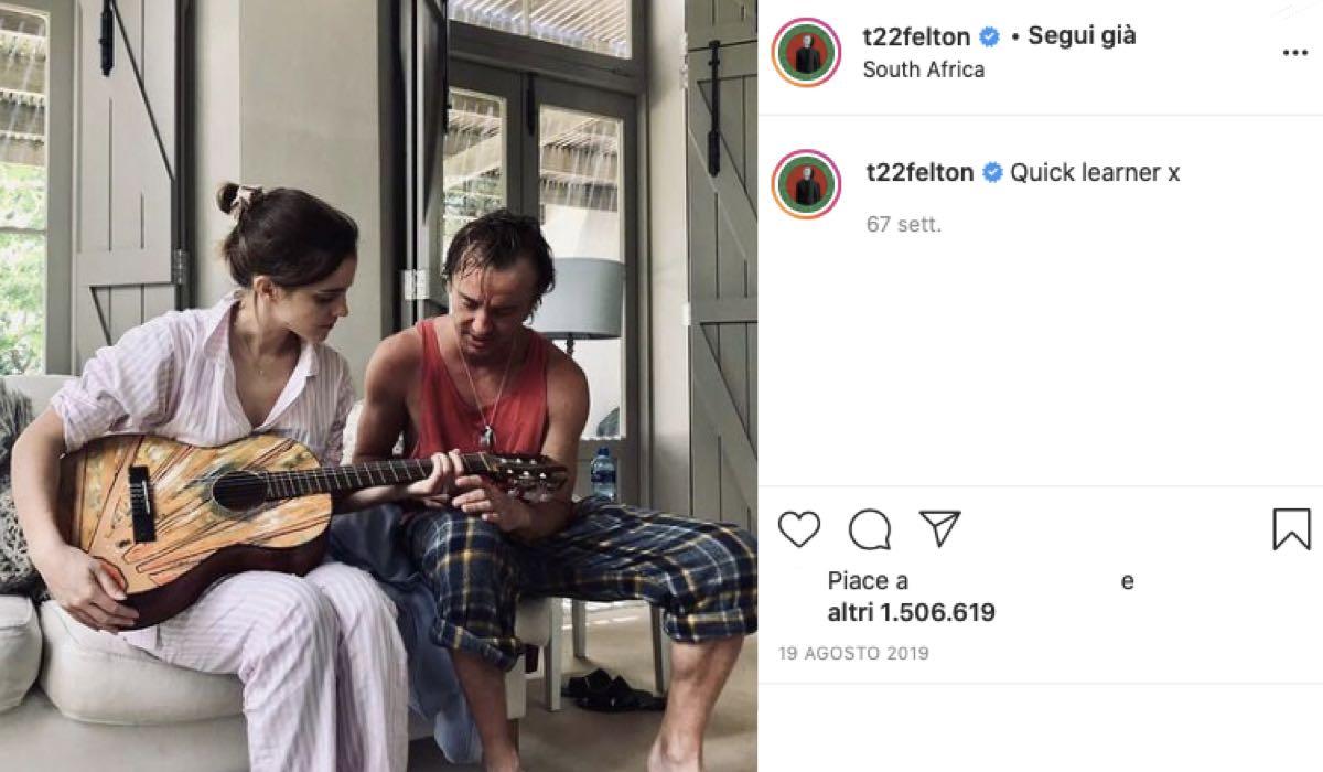 emma watson e tom felton vacanza credits instagram via t22felton