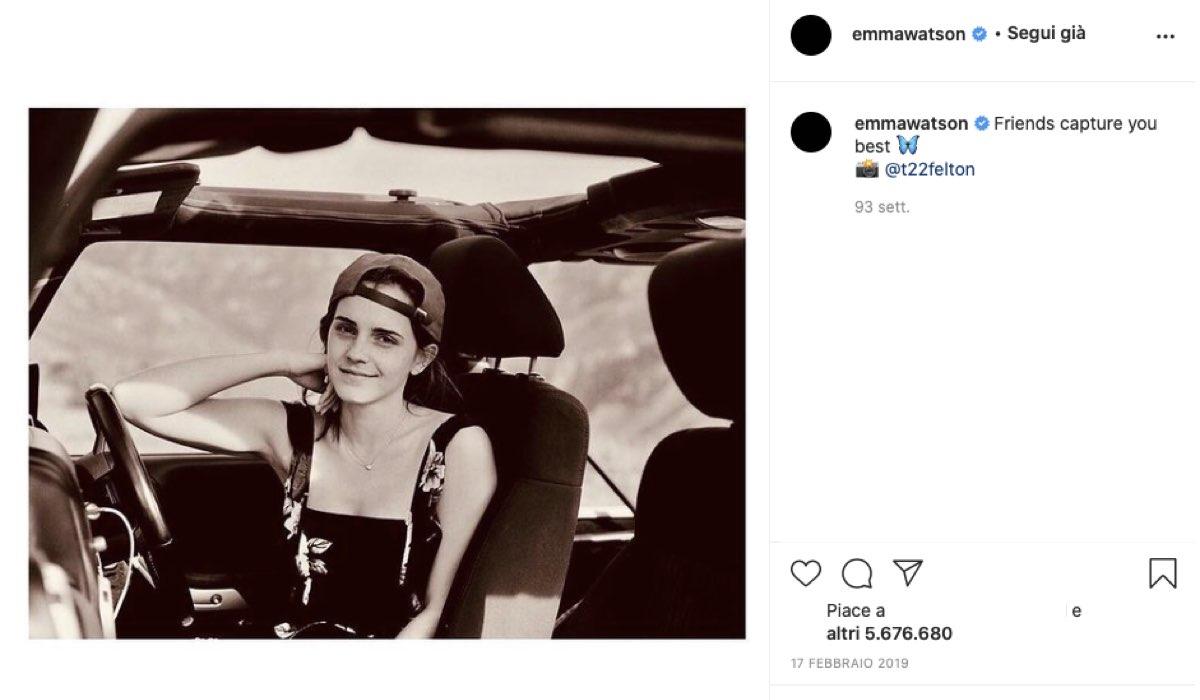 emma watson fotografata da tom felton credits instagram via emmawatson