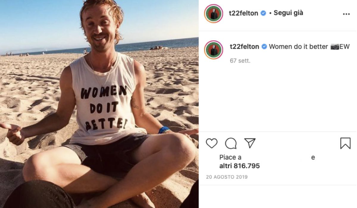 tom felton al mare foto di emma watson credits instagram via t22felton