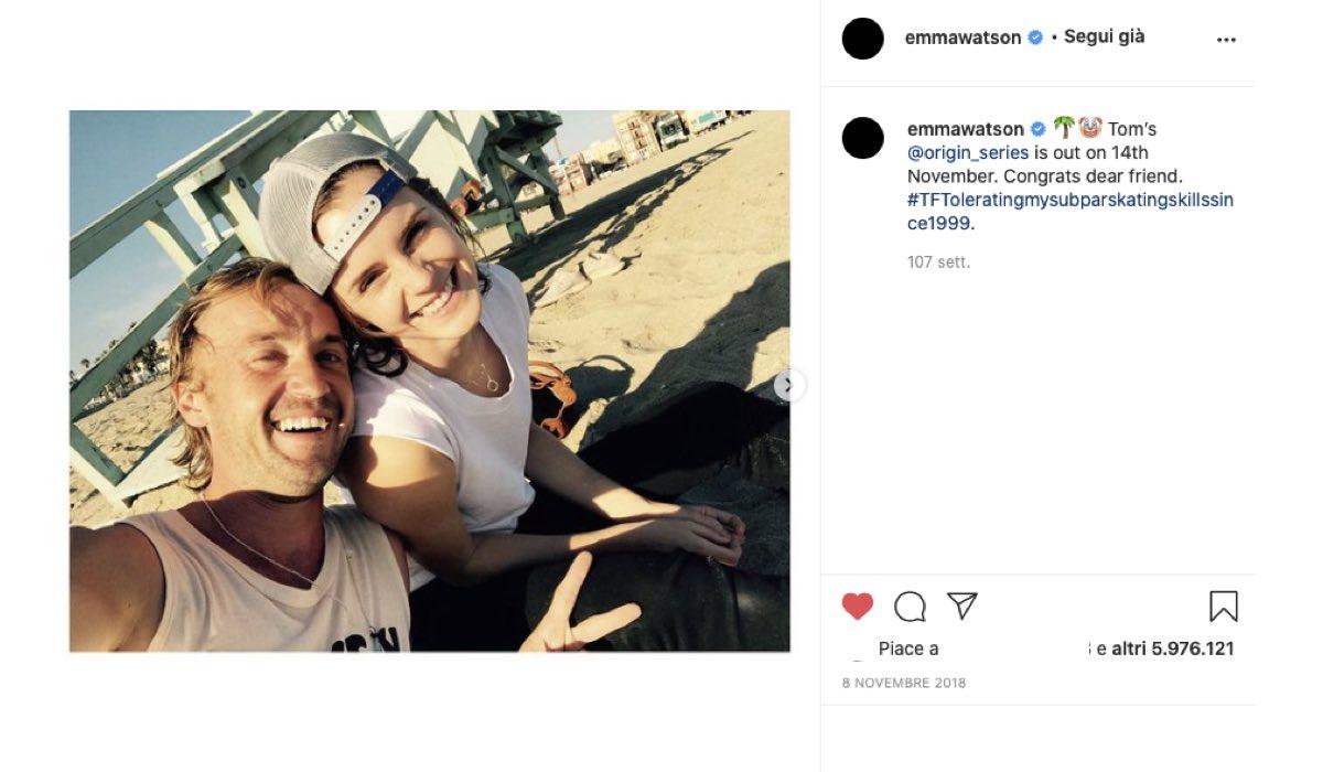 tom felton emma watson 2018 via instagram emmawatson