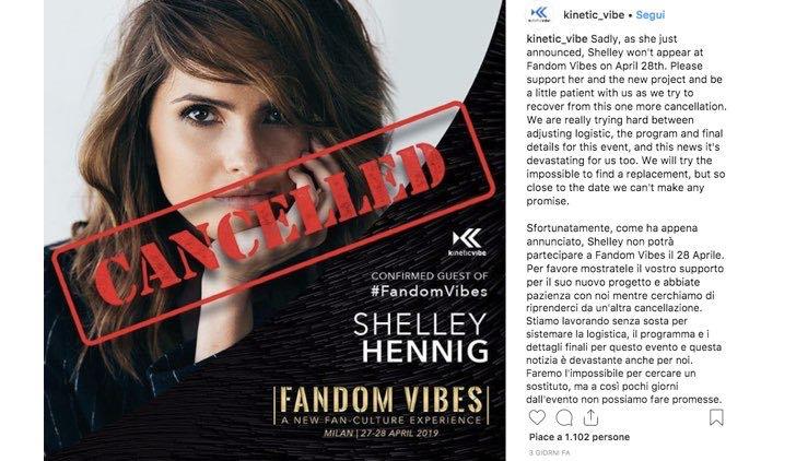 Fandom Vibes Shelley Hennig Annullato