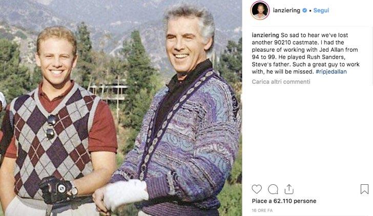 Ian Ziering Instagram Jed Allan