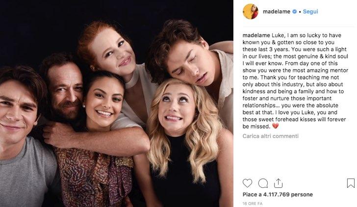 Madelaine Petsch Instagram Luke Perry
