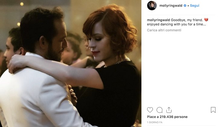 Molly Ringwald Instagram Luke Perry