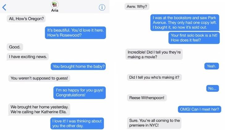 Pretty Little Liars messaggi Aria Alison
