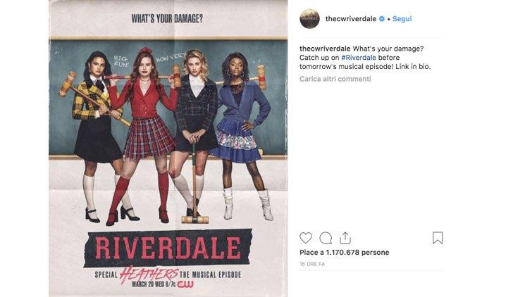 Riverdale 3 Heathers locandina