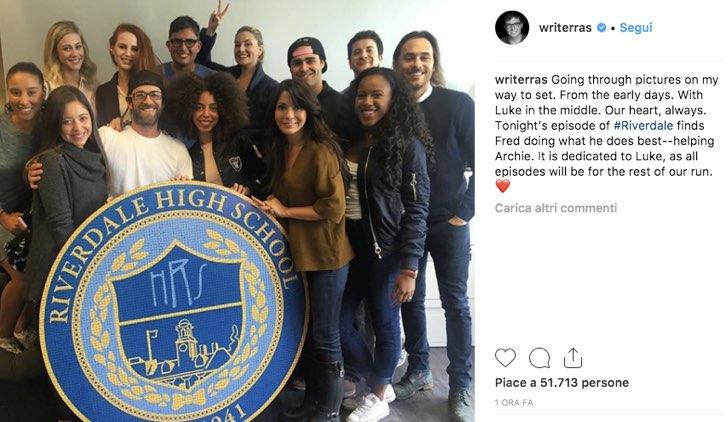 Roberto Aguirre Sacasa Instagram Riverdale Luke Perry