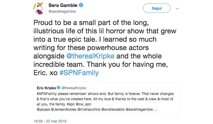 Sera Gamble Supernatural Twitter