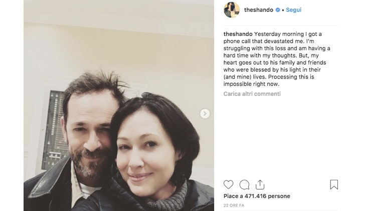 Shannen Doherty Instagram Luke Perry