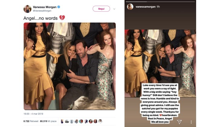 Vanessa Morgan Instagram Twitter Luke Perry