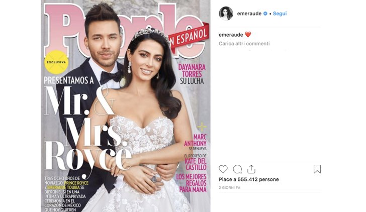 Emeraude Toubia e Prince Royce Instagram featured