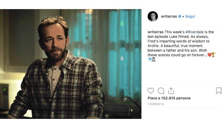 Roberto Aguirre Sacasa Riverdale Luke Perry Instagram