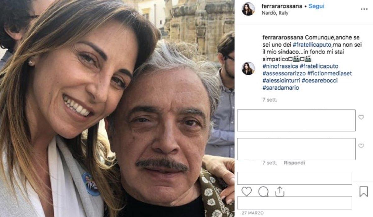 I Fratelli Caputo foto pubblicata su Instagram dall'attrice Rossana Ferraro