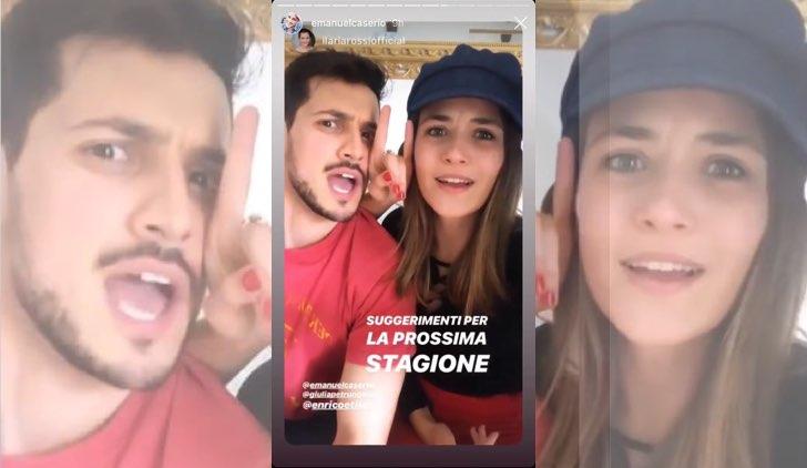 Il paradiso delle signore Emanuel Caserio e Ilaria Rossi nelle Instagram Stories di Ilaria Rossi