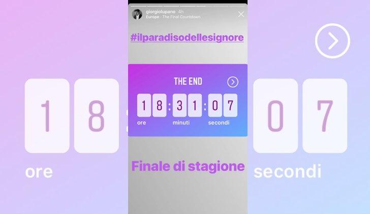 Il paradiso delle signore ultima puntata finale contenuti pubblicati sul profilo Instagram ufficiale di Giorgio Lupano