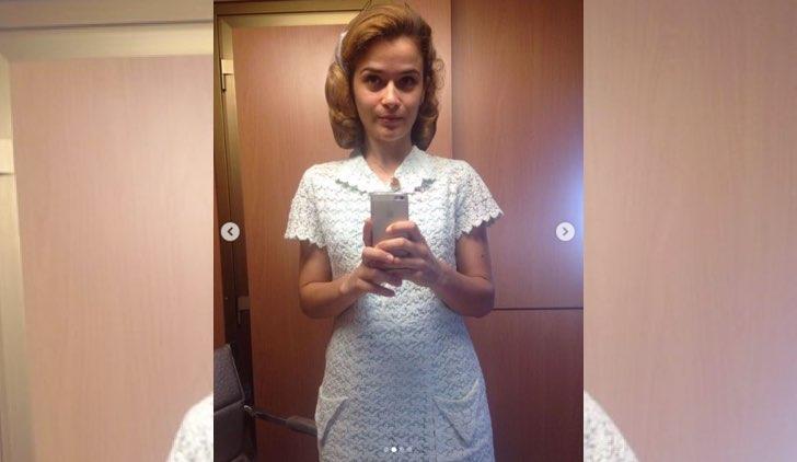 Ilaria Rossi nel cast di Catch-22 foto pubblicata sul suo accouunt Instagram ufficiale