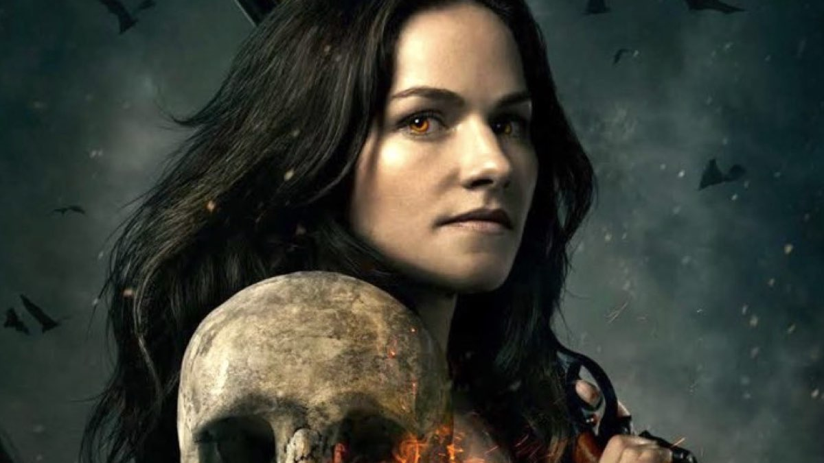 Kelly Overton nei panni di Van Helsing serie tv in un'immagine promozionale della serie. Credits Syfy e Netflix