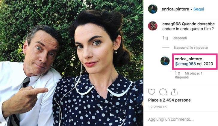 Enrica Pintore nel cast di Enrico Piaggi Un Sogno Italiano in uscita nel 2020 foto condivisa sul suo profilo Instagram