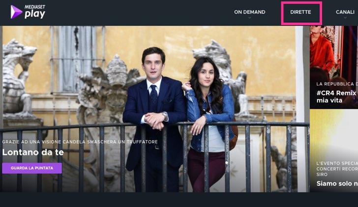 Lontano da te fiction Mediaset in diretta Credits Mediaset