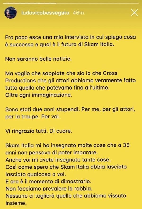 Ludovico Bessegato stories Instagram
