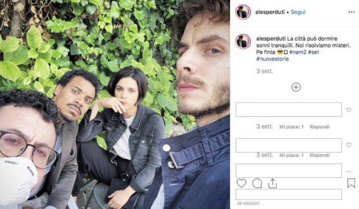 Nero a metà 2 stagione foto condivisa da Alessandro Sperduti sul suo account Instagram il 28 maggio 2019