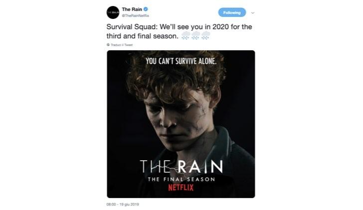 the rain 3 annuncio twitter