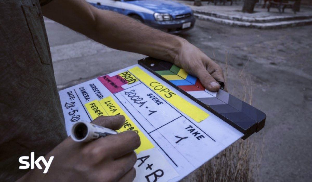 Cops Una Banda di poliziotti riprese per la regia di Luca Miniero Credits SKY e Gianni Fiorito