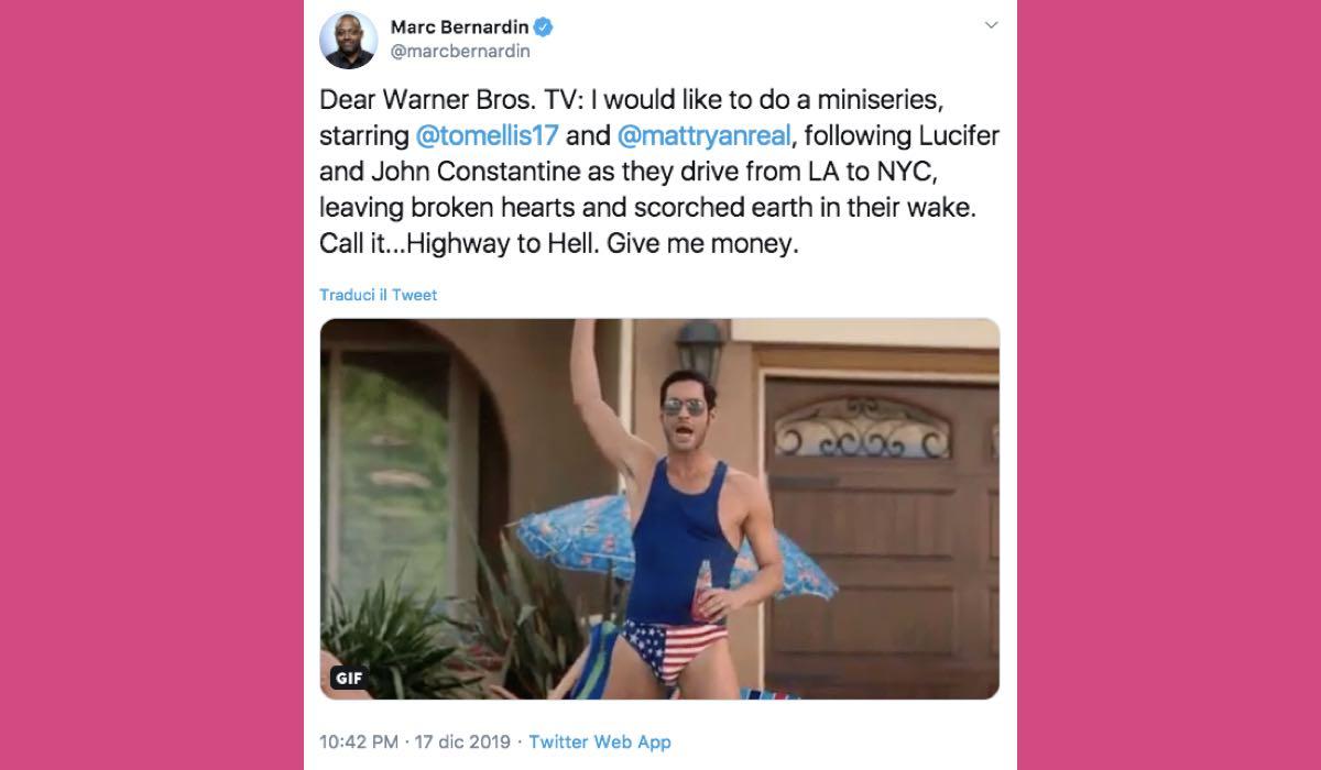 Marc Bernardin Tweet Lucifer